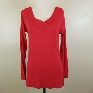 2 a Tee Red Knit Top Size Small